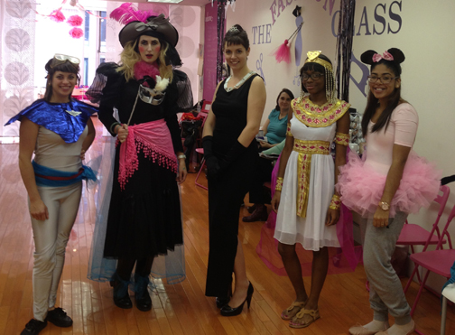 Some of our teachers & staff during the Halloween Costume workshop! All costumes had to be self made of course . . .