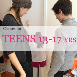 teens fashion design, sewing draping and petternmaking classes at the fashion class in new york city